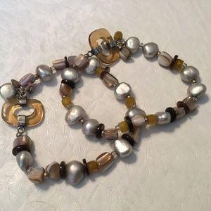 Silpada mixed stone stretch bracelets (2)